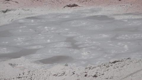 Fountain Paint Pot bubbler Yellowstone Park 4K Footage