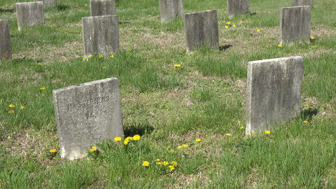 Fredericksburg Virginia Confederate cemetery graves headstones simple 4K 010 Footage