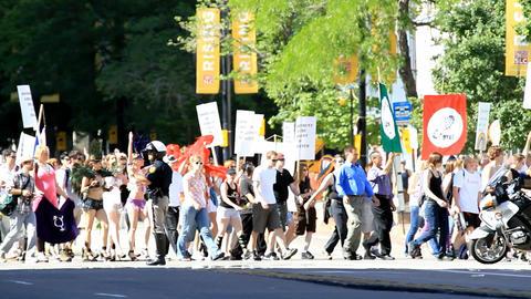 Gay Pride Parade Salt Lake City Utah Footage