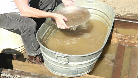 Gold mine panning demo P HD 7920 Live Action