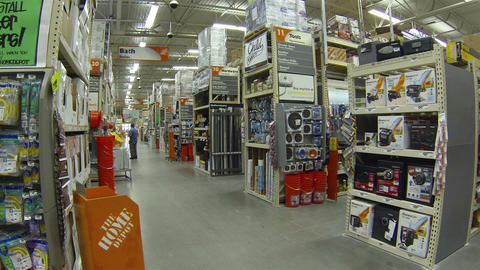 Home Depot hardware store isles products HD 015 Footage