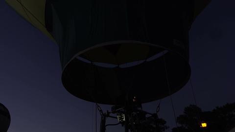 Hot Air Balloon dark night glow burn 4K 182 Live Action