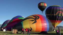 Hot Air Balloon launch takeoff farm field 4K 034 Live Action