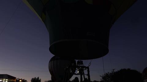 Hot Air Balloon night glow burn 4K 183 Live Action