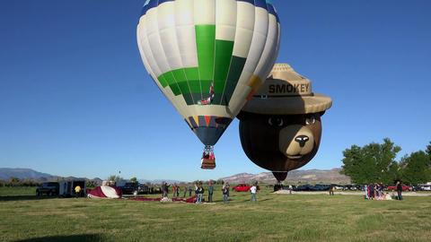Hot Air Balloons Smokey Bear takeoff 4K 033 Footage