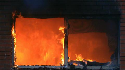 House fire in window total destruction P HD 7904 Footage