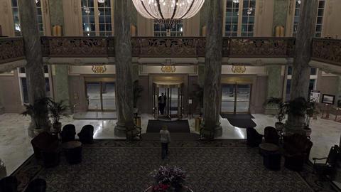 Hotel Utah Joseph Smith Building SLC inside night 4K 031 Footage