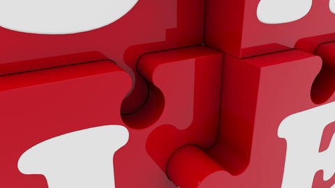 Puzzle pieces with inscription sale Animation