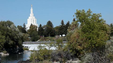 Idaho Falls LDS Temple P HD 2280 Footage
