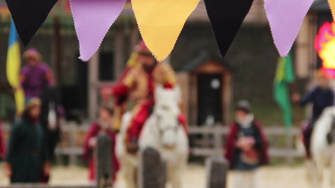 Defocused people dancing and singing, celebrating holiday, culture festival Footage