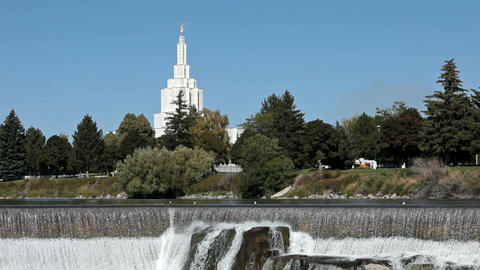 Idaho Falls Mormon Temple dam P HD 2286 Footage