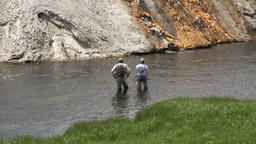 Instruction guide sport fly fishing Yellowstone 4K Footage