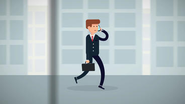 Businessman Walk Simple Corporate Logo Reveal Modern Business Animation Intro After Effects Project
