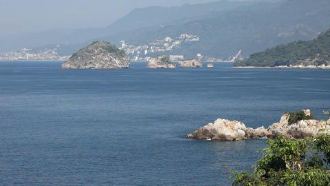 Island rocks Puerto Vallarta P HD 4615 Footage