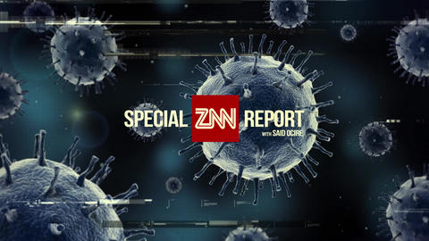 Corona COVID-19 Virus Broadcast Special Report After Effectsテンプレート