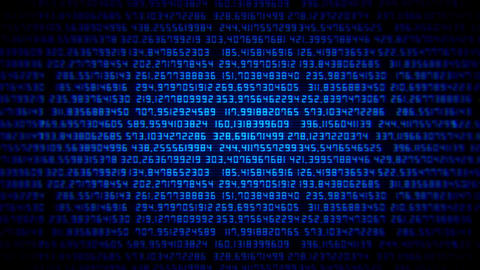 Blue Random Numbers Screen VJ Loop Background CG動画