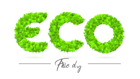 reforestation eco friendly campaign ad with green nature creating letters to raise awareness on Animation