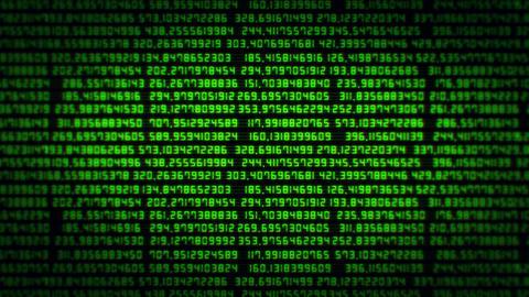 Green Random Numbers Screen VJ Loop Background CG動画