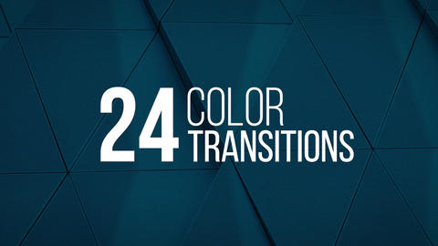 24 Color Transitions Apple Motion Template
