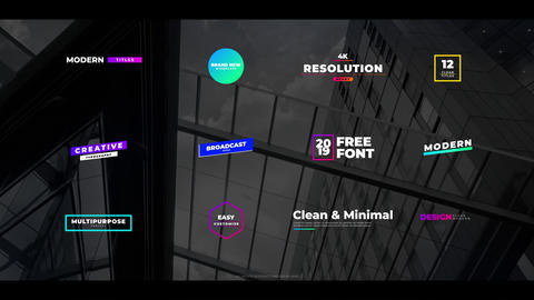 Colorful Creative Titles Motion Graphics Template