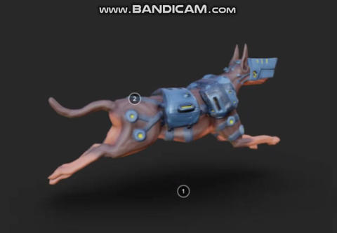 Mech dog 3D Model