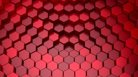 Hexagons Form A Wave Videos animados