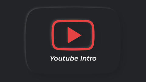 Neumorphism Style Youtube Intro Apple Motion Template