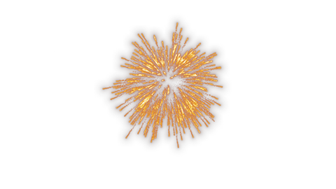Launch fireworks transparent material Animation