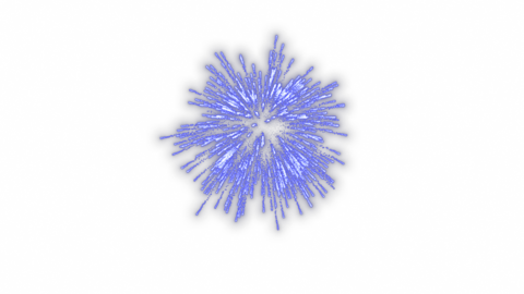 Launch fireworks transparent material blue Animation