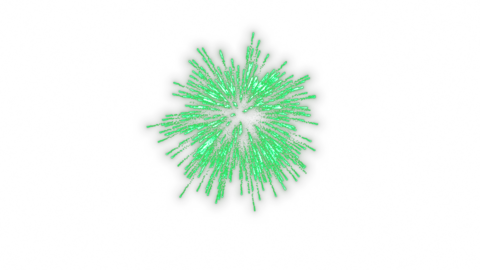 Launch fireworks transparent material green Animation