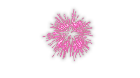 Launch fireworks transparent material pink Animation
