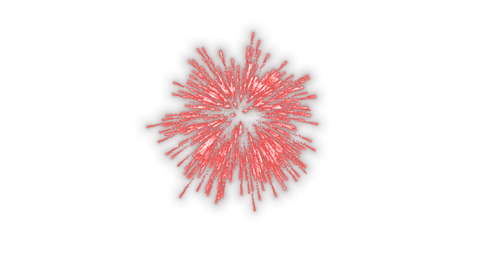 Launch fireworks transparent material red Animation