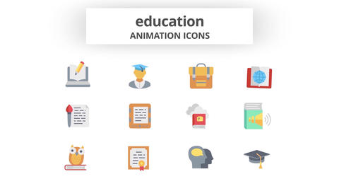 Education - Animation Icons Motion Graphics Template