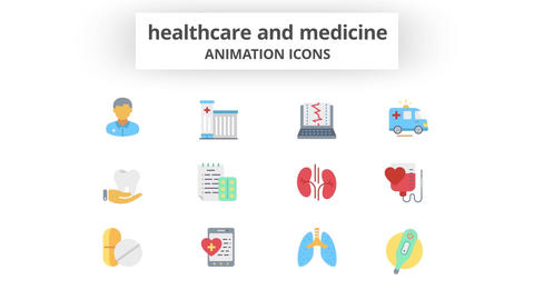 Healthcare & Medicine - Animation Icons 모션 그래픽 템플릿