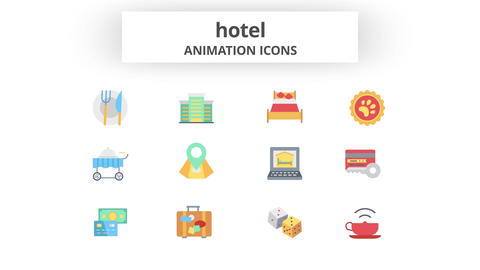Hotel - Animation Icons Motion Graphics Template