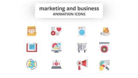 Marketing & Business - Animation Icons 모션 그래픽 템플릿