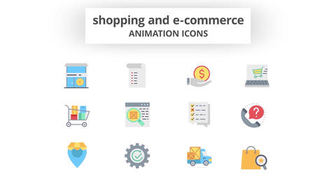 Shopping & E-Commerce - Animation Icons Motion Graphics Template