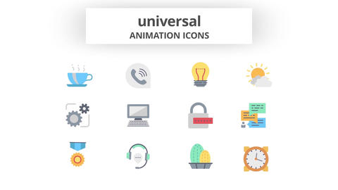 Universal - Animation Icons Motion Graphics Template