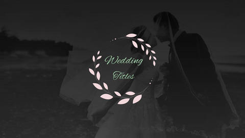 Elegant Wedding Titles Motion Graphics Template