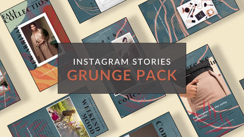 Instagram Stories: Grunge Pack After Effects Template