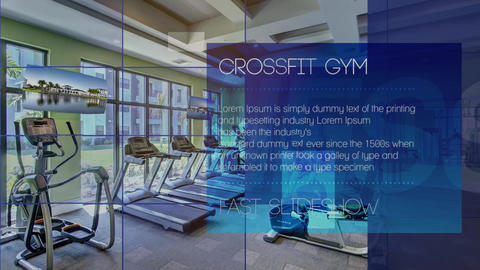 Gym Fitness Slideshow After Effects Template