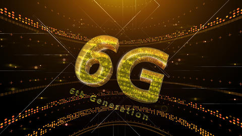 6G Digital Network technology 6th generation mobile communication concept background 2 N1 red 4k Animation