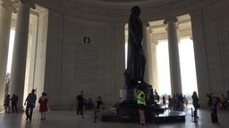 Jefferson Monument tourists inside Washington DC 4K 057 Footage