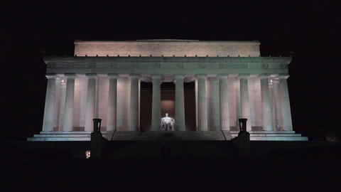 Lincoln Monument Washington DC night 4K 016 Live Action