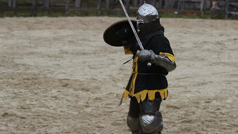 Beginning of medieval tournament. Demonstration of strength and masculinity Live Action