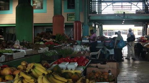 Market square Antigua Island Caribbean HD 1255 Live Action
