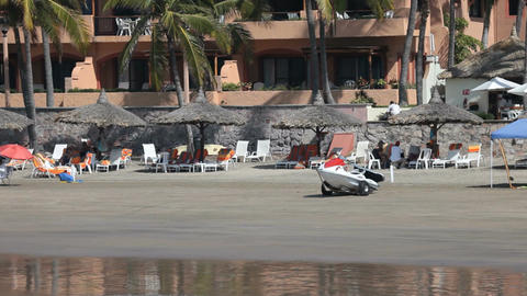 Mazatlan beach pan P HD 4835 Footage
