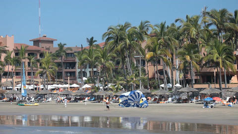 Mazatlan beach resorts pan P HD 4833 Footage