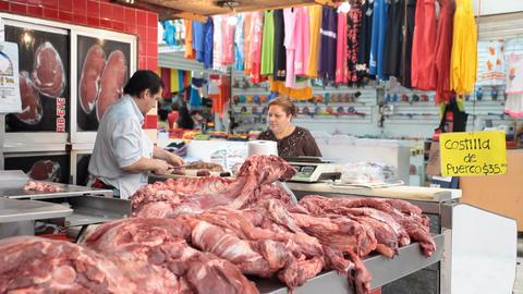 Meat market customer P HD 4798 Footage