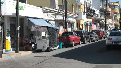 Mexican street corner P HD 4765 Footage